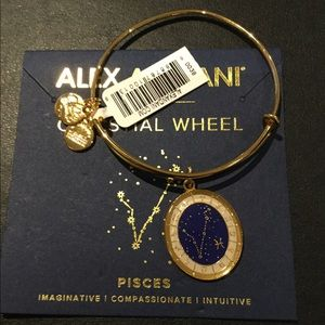 Alex and Ani Pisces Gold Celestial Wheel Bangle